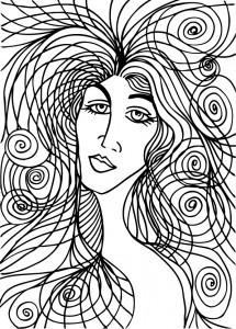 Beautiful woman face illustration - Aroastock