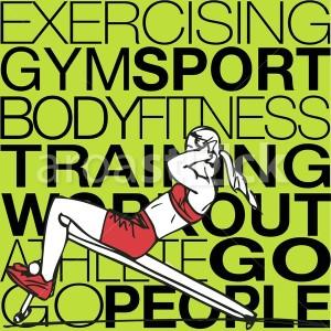 Sport Illustration of Athletic woman exercising - Aroastock